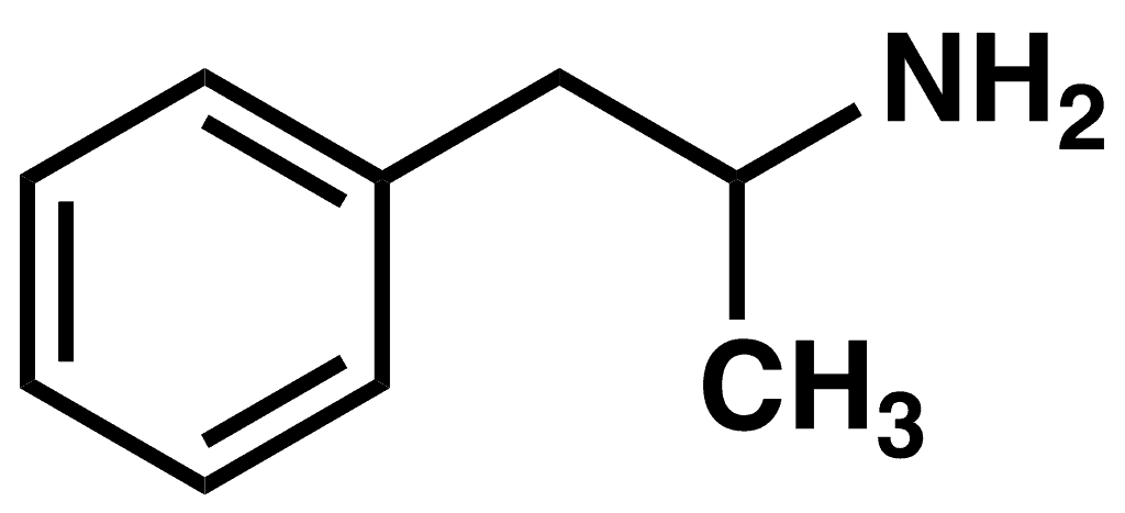 Chemical structure of Adderall