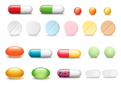 Identify pills, capsule sand medication by color