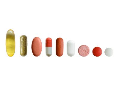 Selection of medication in descending size order