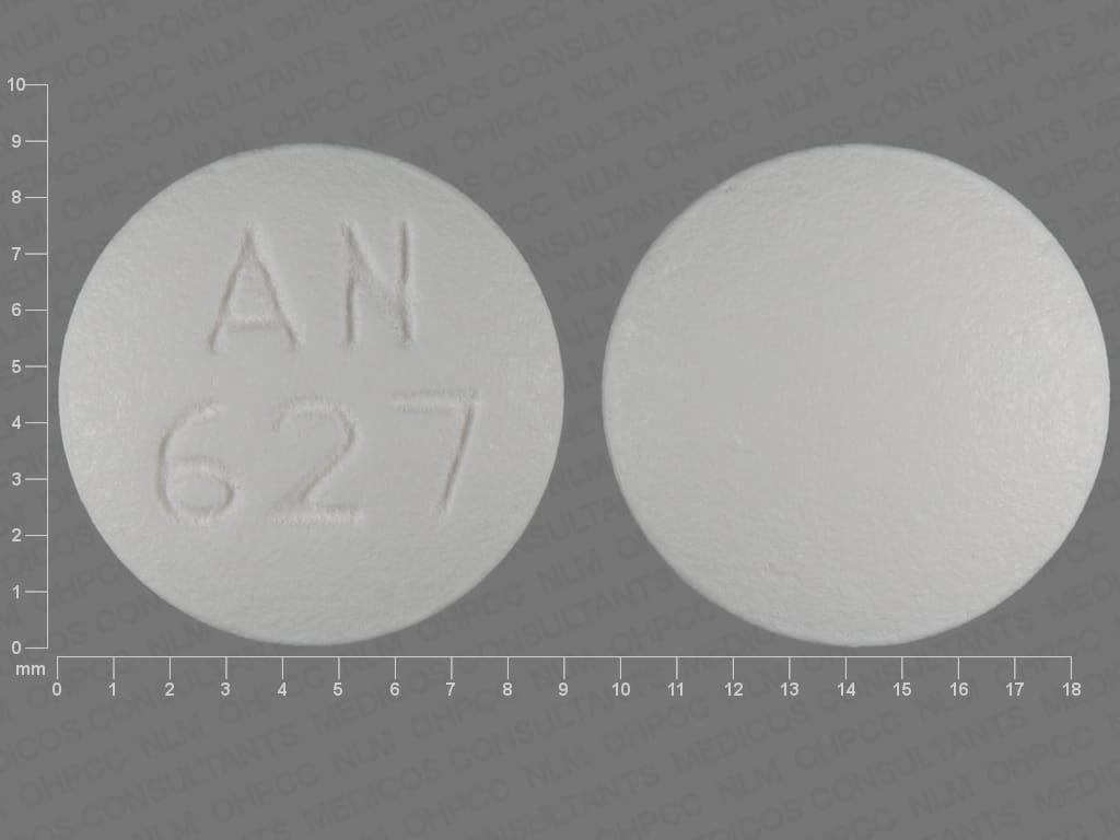 AN 627 White Round Tramadol Hydrochloride 50 mg